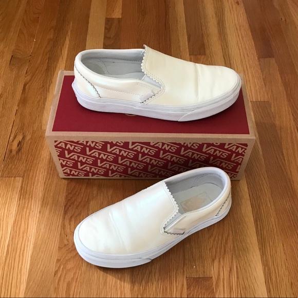Vans Shoes   Vans Classic Slip On Pearl